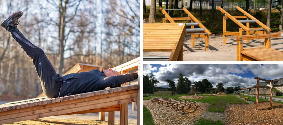 Drewniany sprzęt outdoor fitness Lars Laj