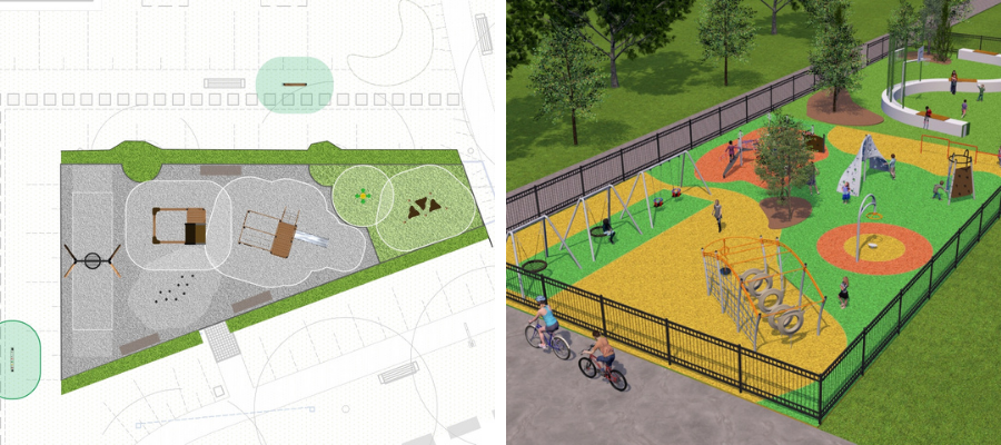 Playground design plan by Lars Laj