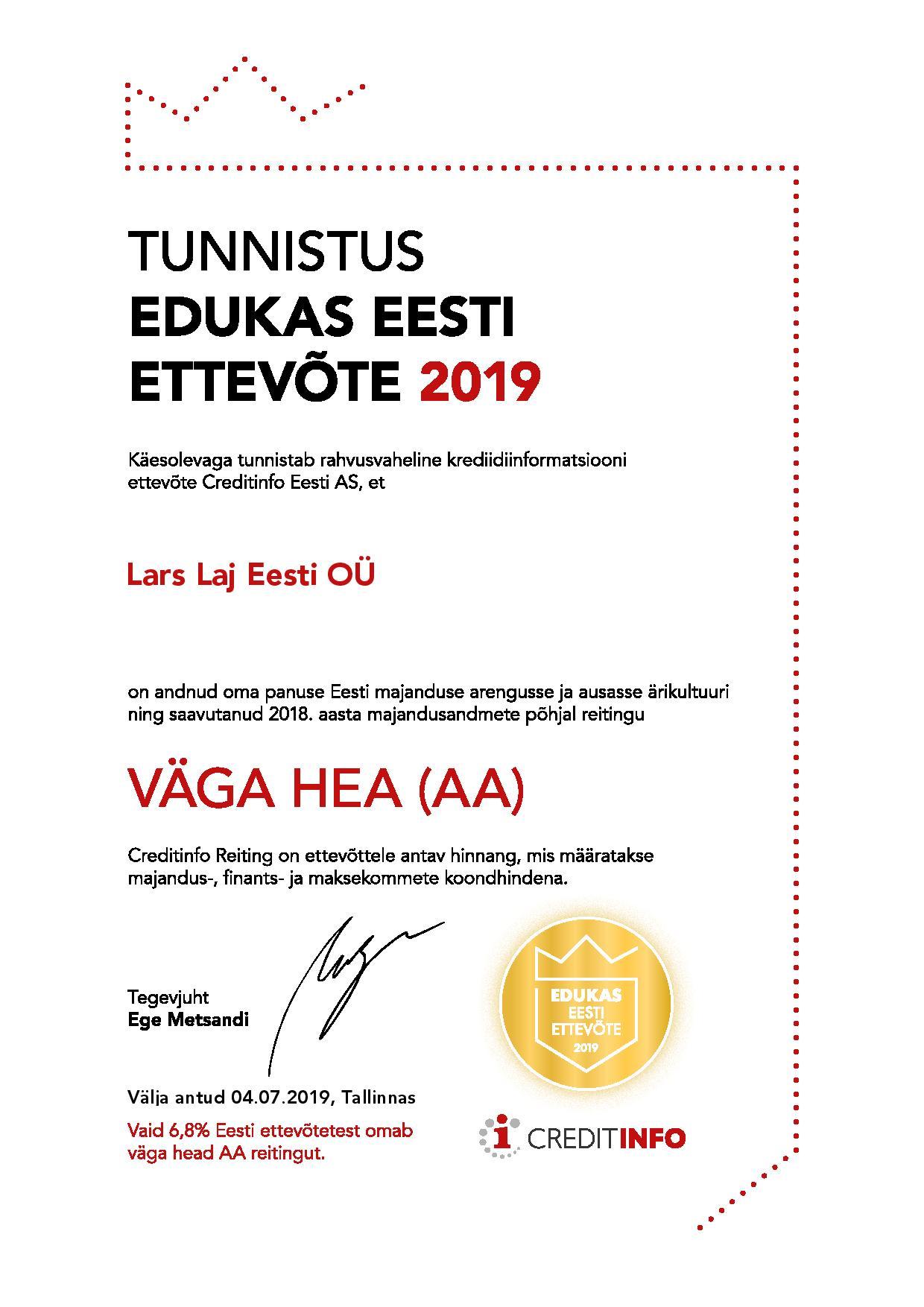Lars Laj Eesti Edukas Eesti Ettevõte