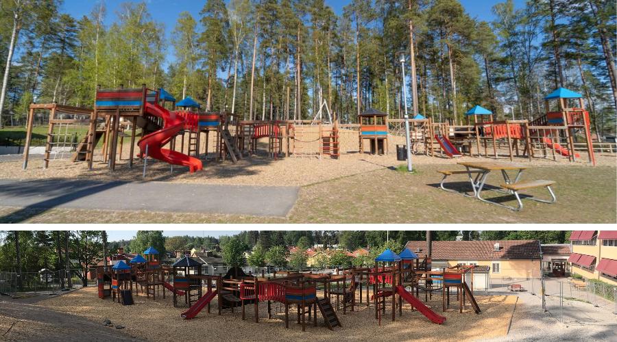 Gigantic Wooden Playground by Lars Laj