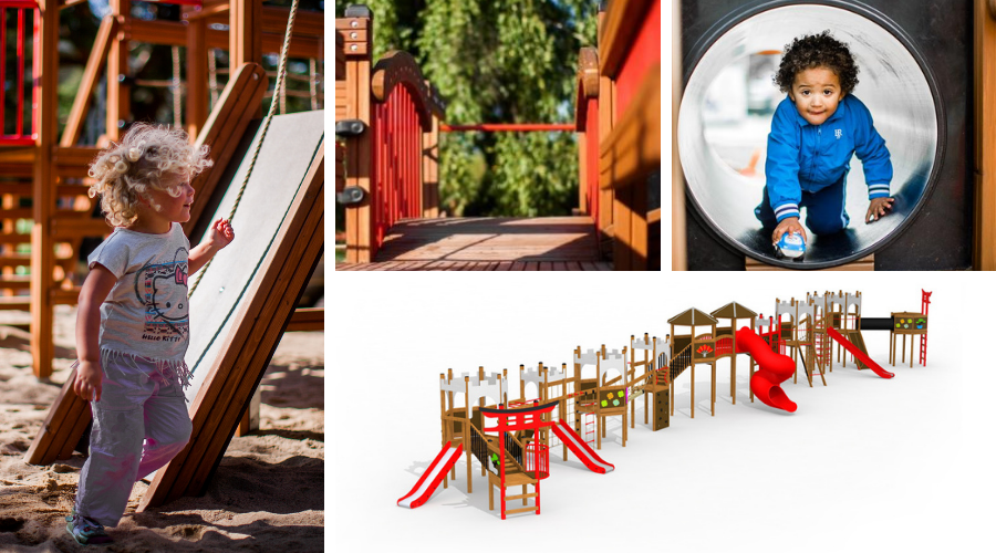 Wooden giant playground by Lars Laj