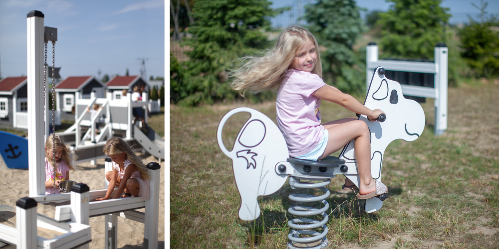 Eleganz und farbenfroher Minimalismus - neuer Kindergartenspielplatz von Lars Laj